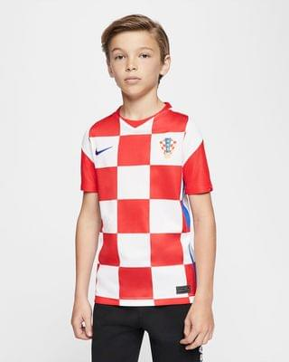 KIDS Big Kids' Soccer Jersey Croatia 2020 Stadium Home