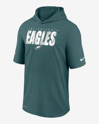 MEN Men's Short-Sleeve Training Hoodie Nike Dri-FIT (NFL Eagles)