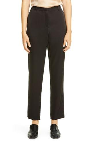 WOMEN Lafayette 148 New York Clinton Radiant Satin Cloth Ankle Pants
