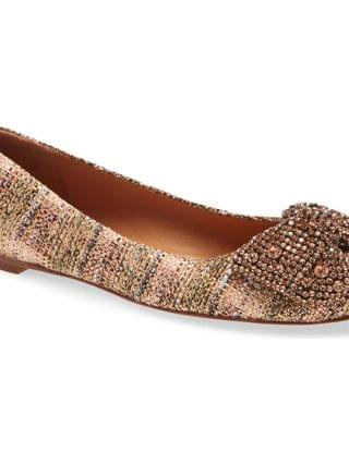 WOMEN Tory Burch Crystal Bow Flat (Women)