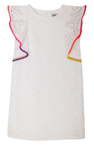 KIDSS MIA New York Fiesta Ruffle Sleeve Shift Dress (Big Girl)