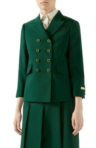 WOMEN Gucci Double Breasted Wool Jacket