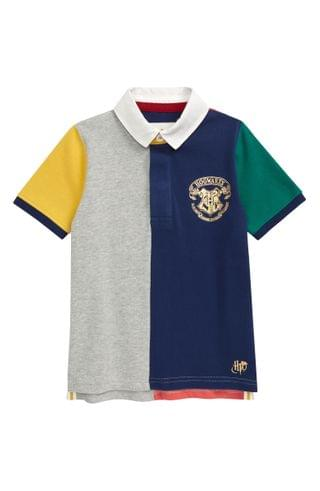 KIDS Mini Boden x Harry Potter Hogwarts House Rugby Polo (Toddler, Little Boy & Big Boy)