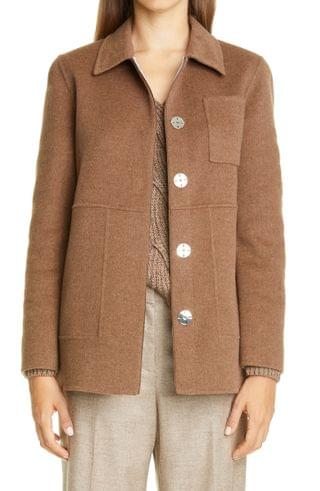 WOMEN Lafayette 148 New York Pascal Two-Tone Wool & Cashmere Jacket