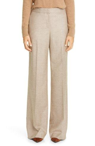 WOMEN Lafayette 148 New York Dalton Stretch Wool & Silk Wide Leg Pants