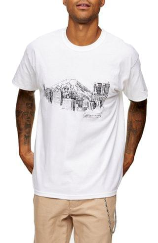MEN Topman Town Sketch Graphic Tee