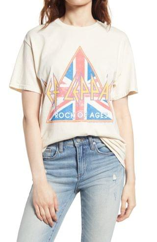 WOMEN Vinyl Icons Def Leppard Rock of Ages Graphic Tee