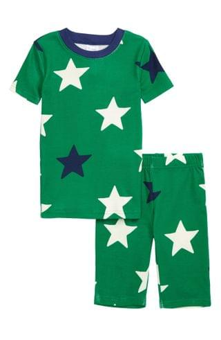 KIDS Mini Boden Glow in the Dark Fitted Two-Piece Short Pajamas (Toddler, Little Boy & Big Boy)