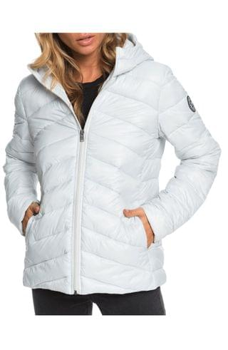 WOMEN Roxy Coast Road Water Resistant Hooded Puffer Jacket