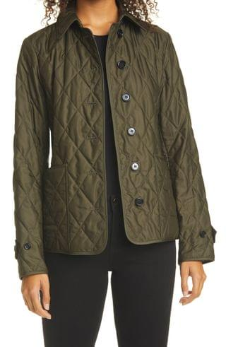 WOMEN Burberry Fernleigh Thermoregulated Diamond Quilted Jacket