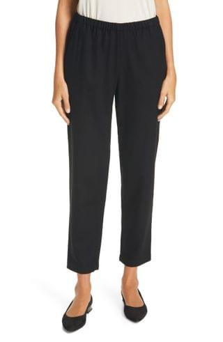 WOMEN Eileen Fisher Wool Tapered Ankle Pants