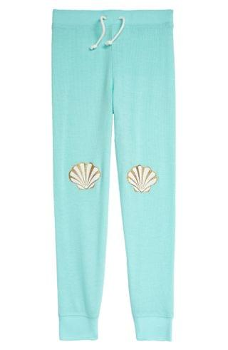 KIDSS PJ Salvage Seashell Jogger Pajama Pants (Toddler, Little Girl & Big Girl)