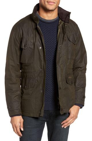 MEN Barbour Sapper Regular Fit Weatherproof Waxed Cotton Jacket