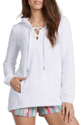 WOMEN Roxy Pearling Lace-Up Hoodie