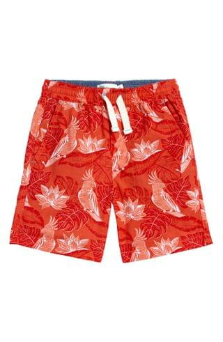 KIDS Mini Boden Washed Canvas Pull-On Shorts (Toddler, Little Boy & Big Boy)