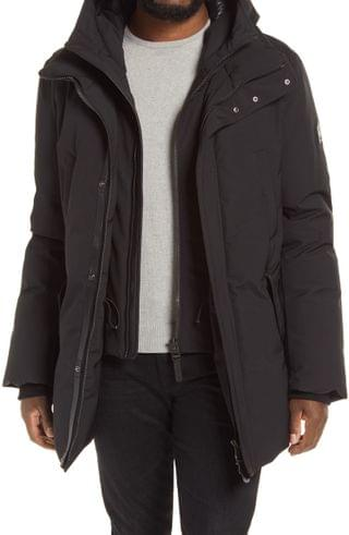 MEN Mackage Edward Water Repellent Down Parka with Removable Bib