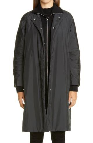 WOMEN Lafayette 148 New York Lawrence Down Coat with Knit Collar