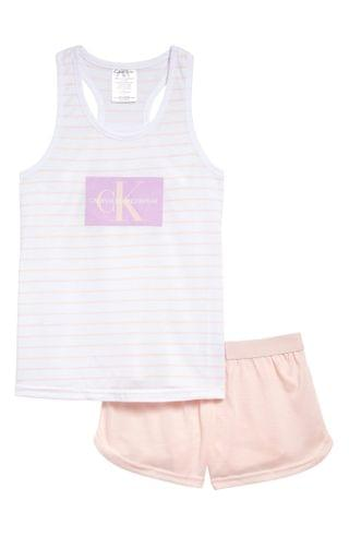 KIDSS Calvin Klein Fitted Two-Piece Pajamas (Big Girl)