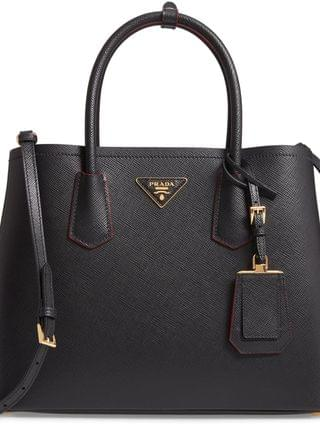 WOMEN Prada Double Medium Saffiano Leather Tote