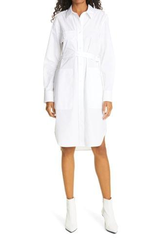 WOMEN Helmut Lang Long Sleeve Cotton Shirtdress