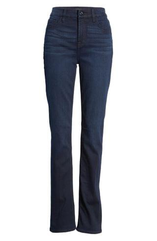 WOMEN JEN7 by 7 For All Mankind Slim Straight Leg Jeans (Classic Midnight)