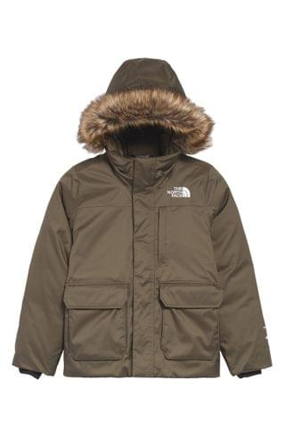 KIDSS The North Face Greenland Waterproof 550-Fill-Power Down Jacket with Faux Fur Trim (Big Girl)