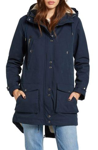 WOMEN Volcom Walk On By 5K Hooded Parka with Faux Shearling Lining