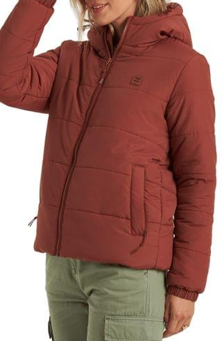 WOMEN Billabong Transport Hooded Water Repellent Puffer Jacket