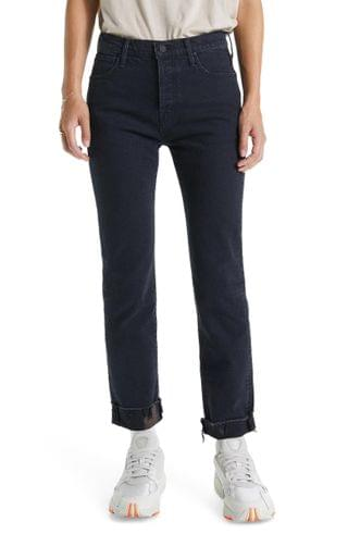 WOMEN MOTHER The Scrapper High Waist Frayed Cuff Ankle Slim Jeans (Who's Sorry Now)