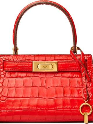 WOMEN Tory Burch Lee Radziwill Croc Embossed Leather Tote