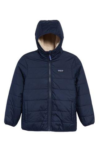 KIDS Patagonia Reversible Insulated Water Repellent Hooded Jacket (Little Boy & Big Boy)