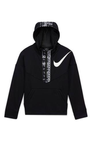 KIDS Nike Dry Graphic Half Zip Hoodie (Big Boy)