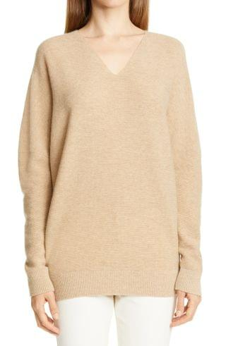 WOMEN Lafayette 148 New York Wool & Cashmere V-Neck Sweater