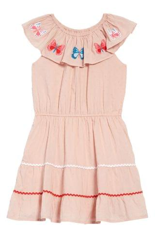 KIDSS Mini Boden Embroidered Rick Rack Trim Dress (Toddler, Little Girl & Big Girl)