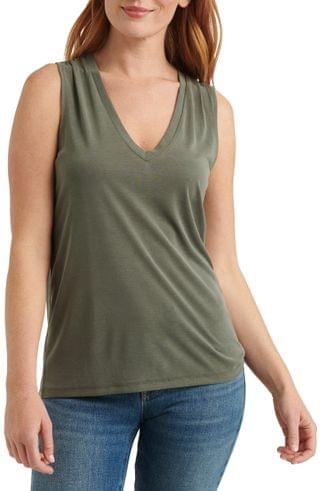 WOMEN Lucky Brand Sandwashed V-Neck Top