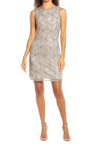 WOMEN Pisarro Nights Beaded Cocktail Minidress