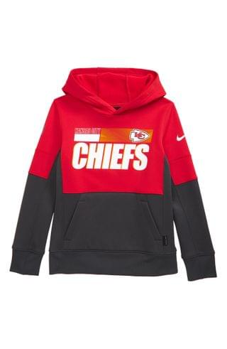 KIDS Nike Dri-FIT Therma NFL Logo Kansas City Chiefs Hoodie (Big Boy)