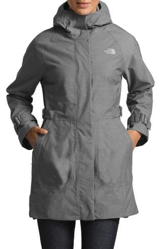WOMEN The North Face City Breeze Waterproof Trench Raincoat