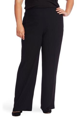 WOMEN CeCe Wide Leg Moss Crepe Pants (Plus Size)