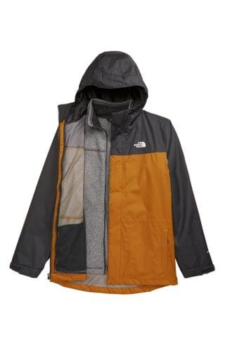KIDS The North Face Gordon Lyons TriClimate Waterproof Hooded 3-in-1 Snowsports Jacket (Big Boys)
