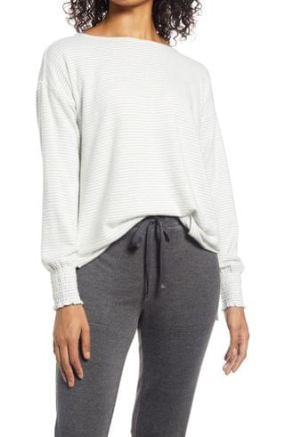 WOMEN Lucky Brand Stripe Jersey Top
