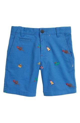 KIDS Mini Boden Embroidered Chino Shorts (Toddler, Little Boy & Big Boy)