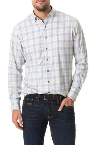 MEN Rodd & Gunn Green Valley Sports Fit Plaid Button-Up Flannel Shirt