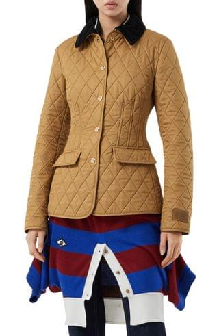 WOMEN Burberry Fitted Diamond Quilted Barn Jacket