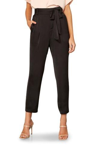 WOMEN cupcakes and cashmere Mazzy Belted Tapered Crop Satin Pants