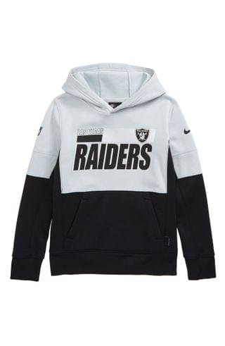 KIDS Nike Dri-FIT Therma NFL Logo Las Vegas Raiders Hoodie (Big Boy)
