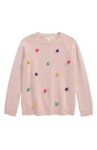 KIDSS Tucker + Tate Pompom Sweater (Toddler, Little Girl & Big Girl)