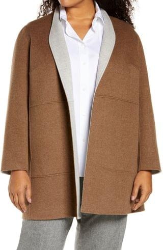 WOMEN Lafayette 148 New York Marlow Reversible Wool & Cashmere Jacket (Plus Size)