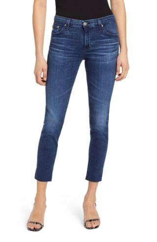 WOMEN AG Prima Low Rise Raw Hem Crop Jeans (20 Years Futurity)
