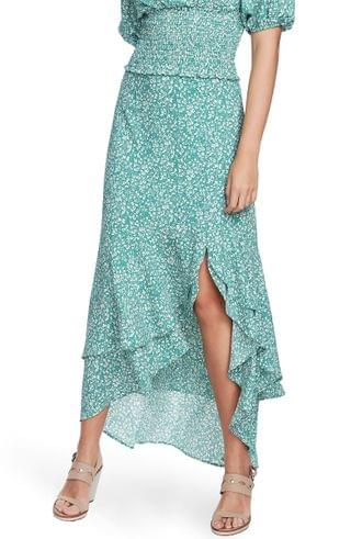 WOMEN 1.STATE Floral Print High/Low Skirt